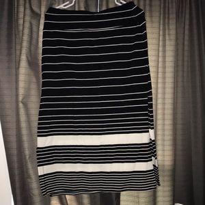 Athletha striped midi skirt medium